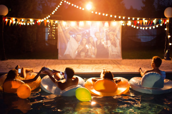 pool movie party